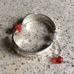 Jewelry - 1937 First Love silver spoon bracelet.
